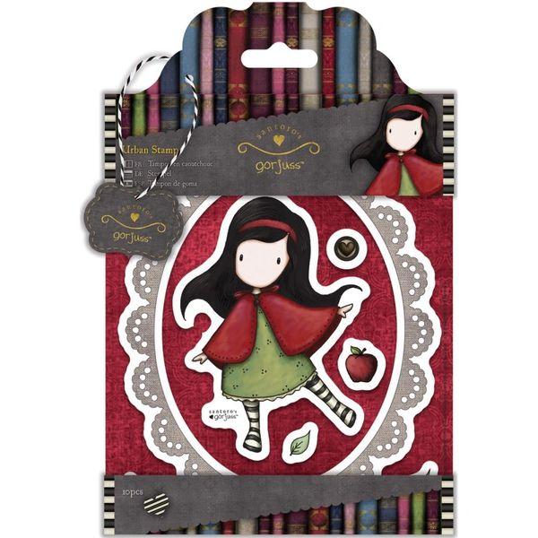 "Little Red Gorjuss Urban Stamps 127x165mm (5""X6.5"")"
