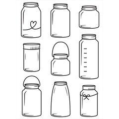 """Jars Embossing Folder (4.25""""x5.75"""") by Darice"""