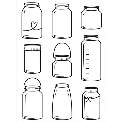 "Jars Embossing Folder (4.25""x5.75"") by Darice"
