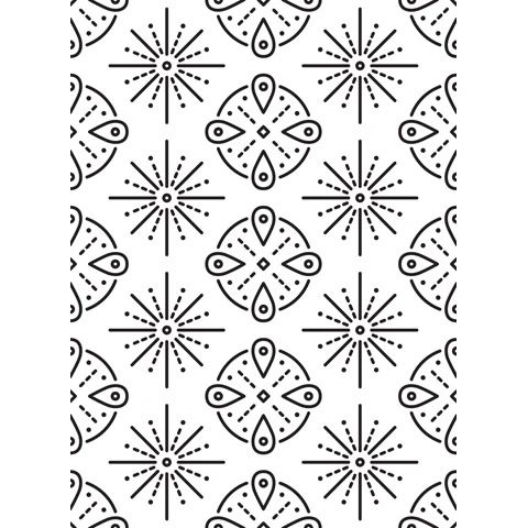 "Tribal Background Embossing Folder (4.25""x5.75"") by Darice"