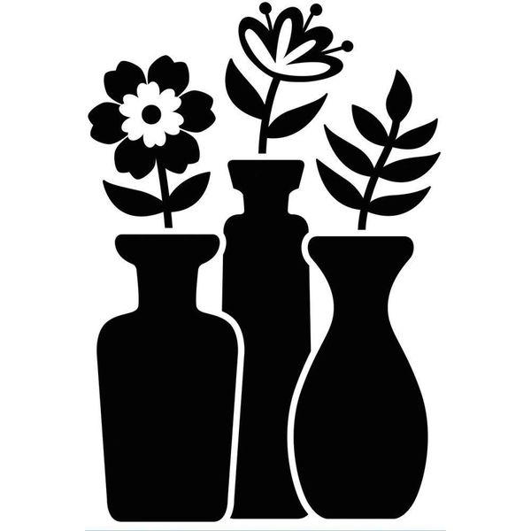 Flower Vase Trio - Darice Embossing Folder - 4.25 x 5.75 inches
