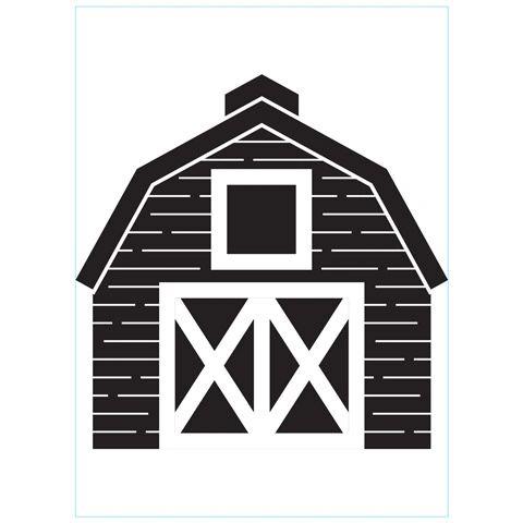 Barn - Darice Embossing Folder - 4.25 x 5.75 inches