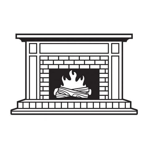 Fireplace Hearth - Darice Embossing Folder - 4.25 x 5.75 inches
