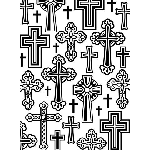 Crosses - Darice Embossing Folder - 4.25 x 5.75 inches