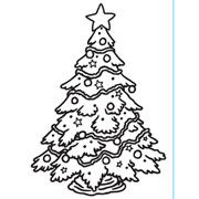 "Christmas Tree Decorated Embossing Folder (4.25""x5.75"") by Darice"