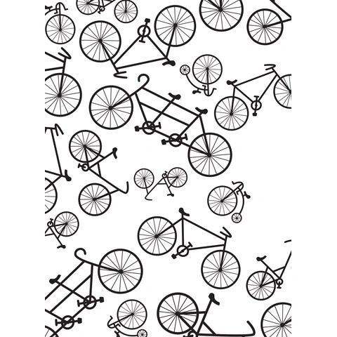 Bicycle - Darice Embossing Folder - 4.25 x 5.75 inches