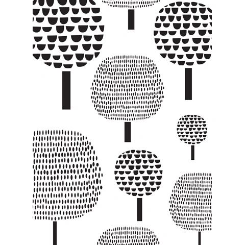 Dot Trees Background - Darice Embossing Folder - 4.25 x 5.75 inches