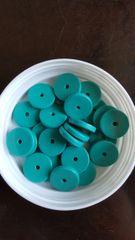 Turquoise Disc Bead 12mm (24pcs)