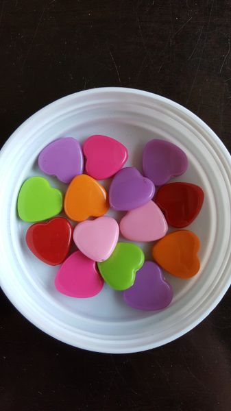 Heart Bead Assortment 19mm (14pcs)