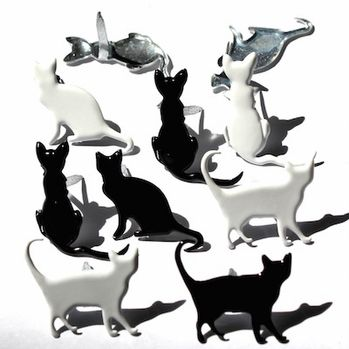 Cat Silhouette Brads by Eyelet Outlet