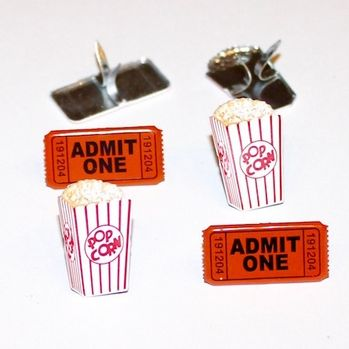 Popcorn & Ticket Brads by Eyelet Outlet