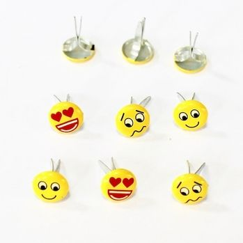 Emotion Brads (Small Emoji) by Eyelet Outlet
