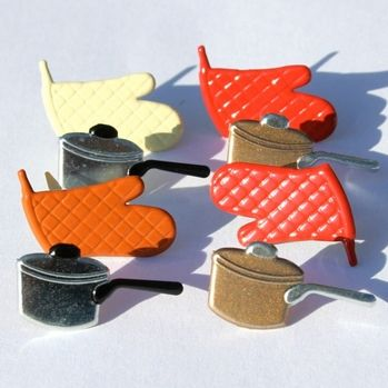 Cooking brads (Pots and Oven Mitts) by Eyelet Outlet