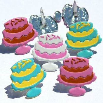 Colorful Cake Brads by Eyelet Outlet