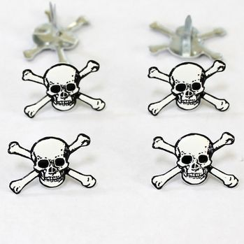 Skull and Cross Bones Brads by Eyelet Outlet