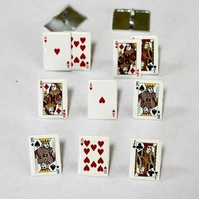 Playing Card Brads (Poker) by Eyelet Outlet