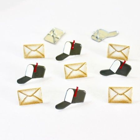 Mailbox and Letter Brad by Eyelet Outlet
