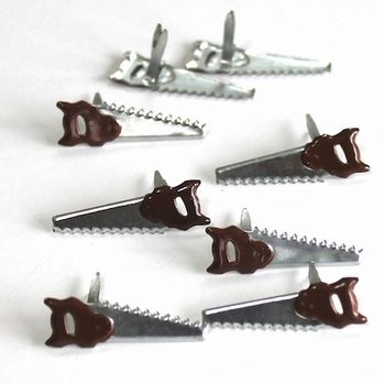 Hand Saw brads (12pcs)by Eyelet Outlet