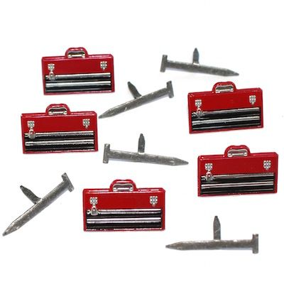 Tool Box and Nails brads by Eyelet Outlet