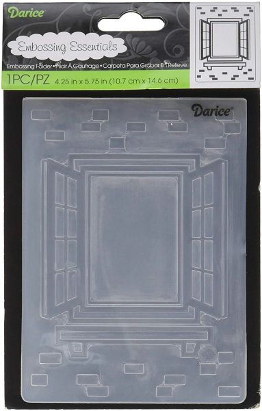 "Window with Shutters Embossing Folder (4.24""x5.75"") by Darice"