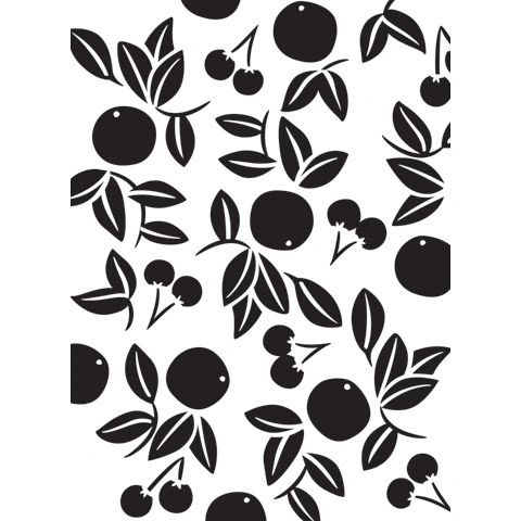 "Cherry (Cherries) Embossing Folder (4.24""x5.75"") by Darice"