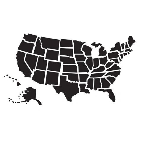 "USA Map Embossing Folder (4.24""x5.75"") by Darice"