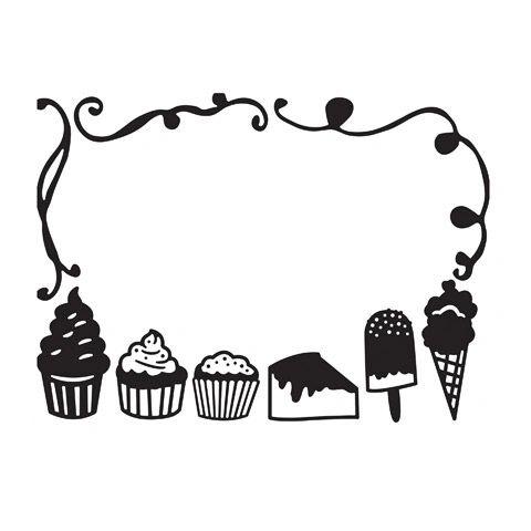 """Desserts Embossing Folder (4.24""""x5.75"""") by Darice"""