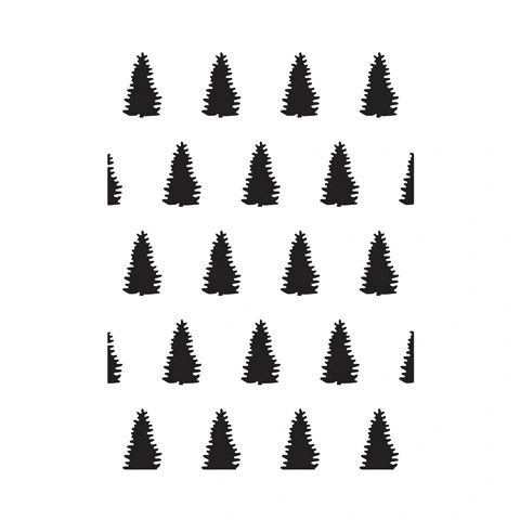 "Evergreen Tree Background Embossing Folder (4.24""x5.75"") by Darice"