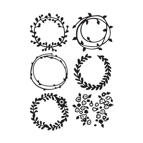 "Wreaths Embossing Folder (4.24""x5.75"") by Darice"
