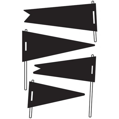 "Pennants Embossing Folder (4.24""x5.75"") by Darice"