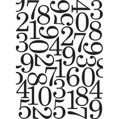 """Numbers Background Embossing Folder (4.24""""x5.75"""") by Darice"""