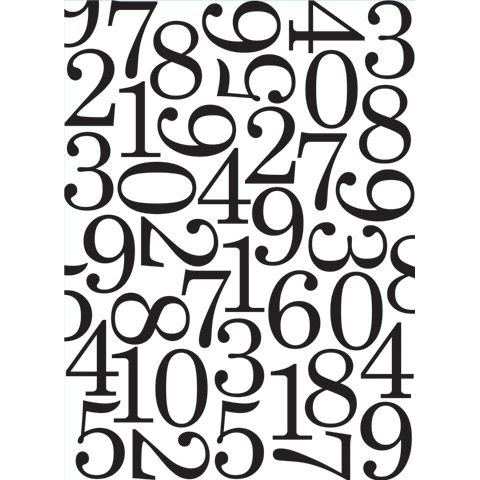 "Numbers Background Embossing Folder (4.24""x5.75"") by Darice"