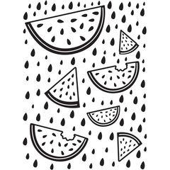 "Watermelon Background Embossing Folder (4""x6"") by Darice"