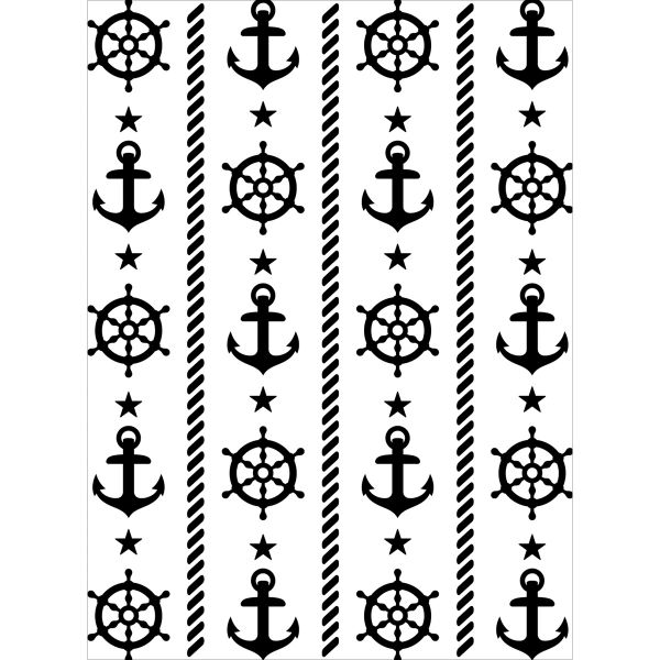 "Anchor and Ship's Wheel Background (4""x6"") by Darice"