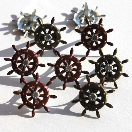 Ship's Wheel brads by Eyelet Outlet