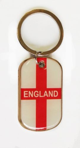 ENGLAND COUNTRY FLAG METAL KEYCHAIN .. NEW AND IN A PACKAGE