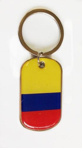 COLOMBIA COUNTRY FLAG Dog Tag METAL KEYCHAIN .. NEW