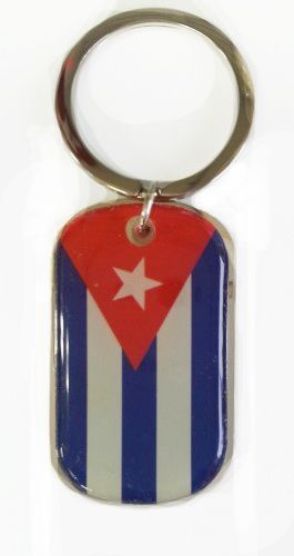 CUBA COUNTRY FLAG Dog Tag METAL KEYCHAIN .. NEW