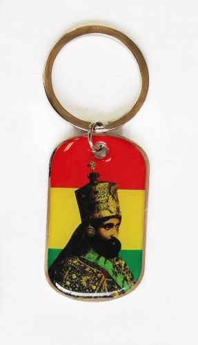 ETHIOPIA KING CROWN PICTURE' METAL KEYCHAIN .. NEW AND IN A PACKAGE