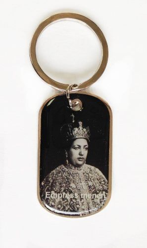 ETHIOPIA EMPRESS PICTURE' METAL KEYCHAIN .. NEW AND IN A PACKAGE