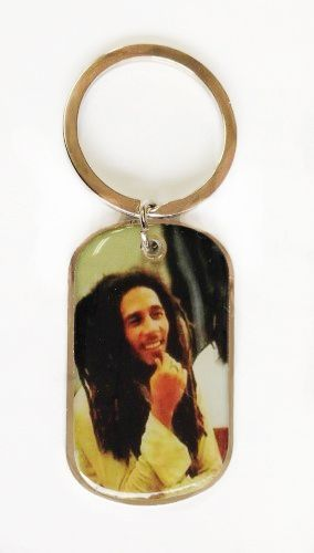 BOB MARLEY CHIN PICTURE' METAL KEYCHAIN .. NEW AND IN A PACKAGE