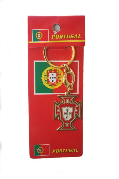 PORTUGAL SANTA MARIA FIFA SOCCER WORLD CUP METAL LOGO KEYCHAIN .. NEW AND IN A PACKAGE