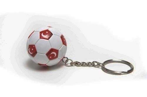 TURKEY COUNTRY FLAG FIFA SOCCER WORLD CUP BALL KEYCHAIN .. NEW AND IN A PACKAGE