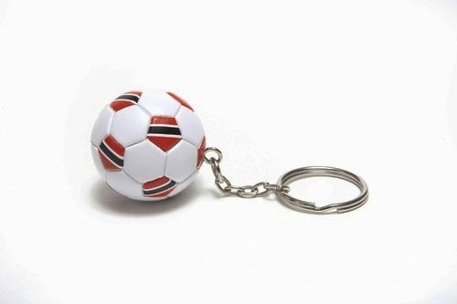 TRINIDAD & TOBAGO COUNTRY FLAG FIFA SOCCER WORLD CUP BALL KEYCHAIN .. NEW AND IN A PACKAGE