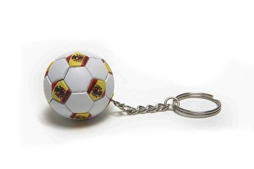 SPAIN COUNTRY FLAG FIFA SOCCER WORLD CUP BALL KEYCHAIN .. NEW AND IN A PACKAGE