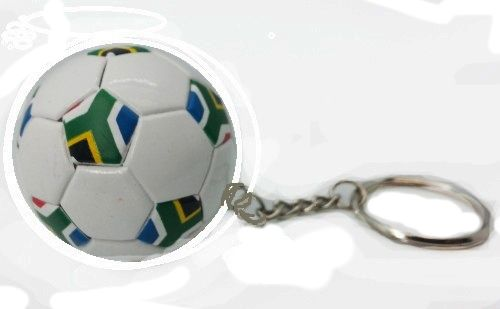 SOUTH AFRICA COUNTRY FLAG FIFA SOCCER WORLD CUP BALL KEYCHAIN .. NEW AND IN A PACKAGE