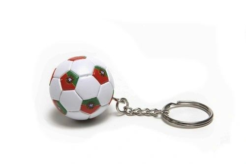 PORTUGAL COUNTRY FLAG FIFA SOCCER WORLD CUP BALL KEYCHAIN .. NEW AND IN A PACKAGE
