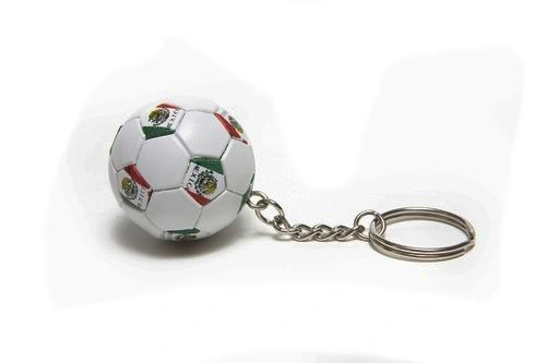 MEXICO COUNTRY FLAG FIFA SOCCER WORLD CUP BALL KEYCHAIN .. NEW AND IN A PACKAGE