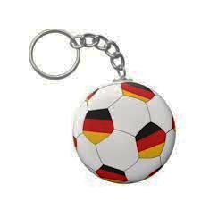 GERMANY COUNTRY FLAG FIFA SOCCER WORLD CUP BALL KEYCHAIN .. NEW AND IN A PACKAGE