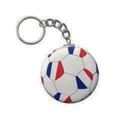 FRANCE COUNTRY FLAG FIFA SOCCER WORLD CUP BALL KEYCHAIN .. NEW AND IN A PACKAGE